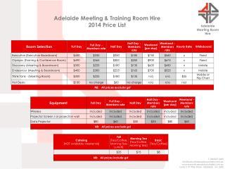 Adelaide Meeting Room Hire