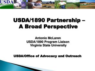USDA/1890  Partnership –  A Broad  Perspective