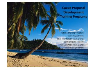 Coeus Proposal Development Training Programs