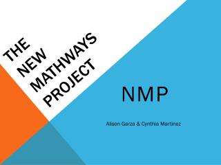 The  New  Mathways Project