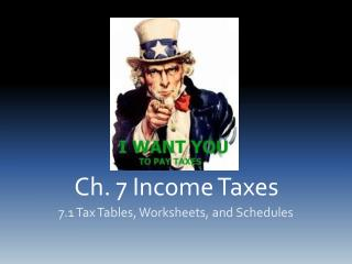 Ch. 7 Income Taxes