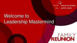 Welcome to  Leadership Mastermind