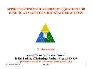 appropriateness of arrhenius equation for kinetic analysis of ...