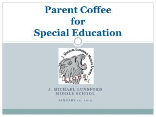 Parent Coffee  for Special Education