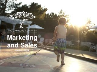Marketing  and Sales January 2014