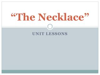 """""""The Necklace"""""""