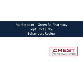 Marketpoint | Green Rd Pharmacy  Sept| Oct | Nov  Behaviours Review