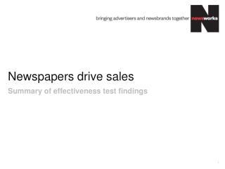Newspapers  drive sales