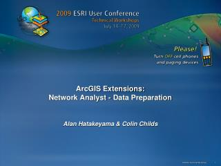 ArcGIS Extensions: Network Analyst - Data Preparation
