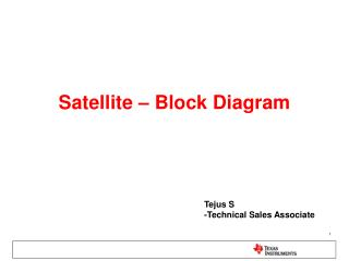 Satellite – Block Diagram