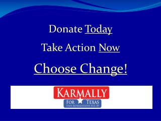 Donate  Today Take Action  Now Choose Change!