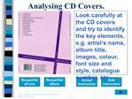 analysing cd covers.