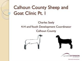 Calhoun County Sheep and Goat Clinic Pt. 1