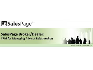 SalesPage Broker/Dealer: CRM for Managing Advisor Relationships