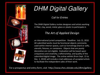 DHM Digital Gallery    Call for Entries