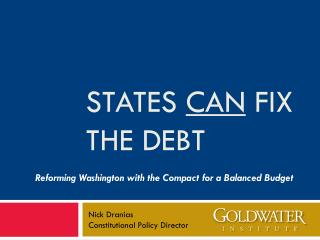 States  can  Fix The debt