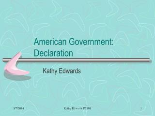 American Government: Declaration