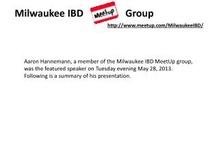 Milwaukee  IBD                  Group