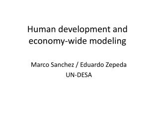 Human development and economy-wide modeling