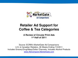 Retailer Ad Support for Coffee & Tea Categories A  Review of Circular Print Ads 1 st  Half of 2011