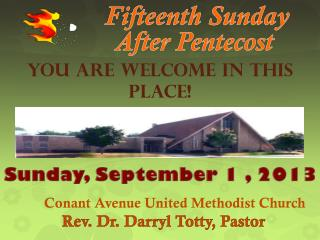 Fifteenth  Sunday After Pentecost