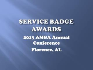 Service Badge Awards