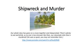 Shipwreck and  Murder