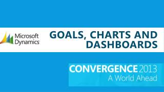 Goals, Charts and dashboards