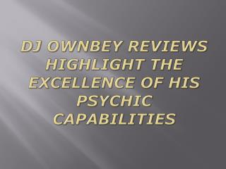 dj ownbey reviews