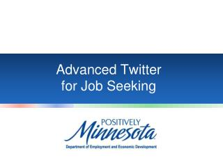 Advanced Twitter  for Job Seeking