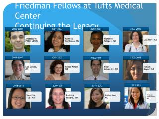 Friedman Fellows at Tufts Medical Center Continuing the Legacy