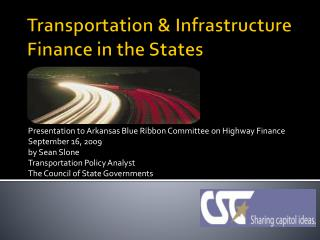 Transportation & Infrastructure Finance in the States