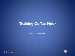 Training Coffee Hour