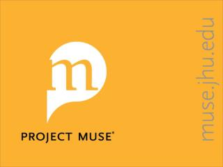 UPCC Book Collections on Project MUSE ® An Overview