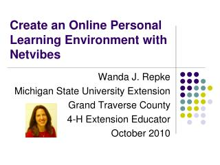 Create an Online Personal Learning Environment with Netvibes