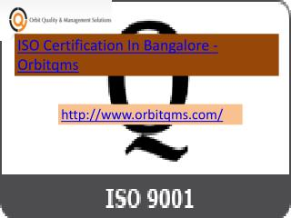 iso 9001 certification  in bangalore