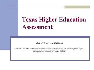 texas higher education assessment