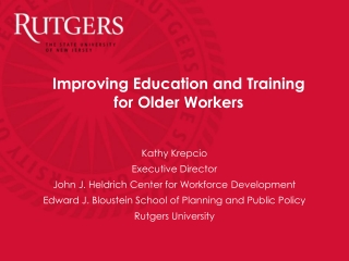 Improving Education and Training for Older Workers