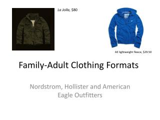 Family-Adult  Clothing Formats