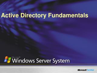 Active Directory Fundamentals