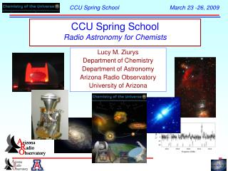 CCU Spring School Radio Astronomy for Chemists