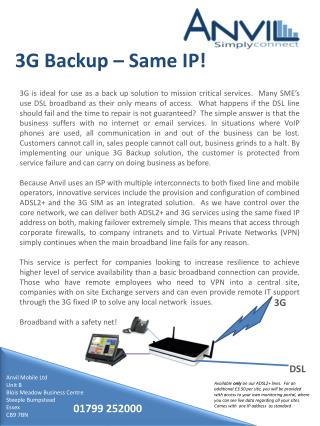3G  Backup –  Same  IP!