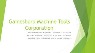 Gainesboro Machine  T ools Corporation