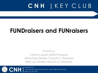 FUNDraisers and FUNraisers