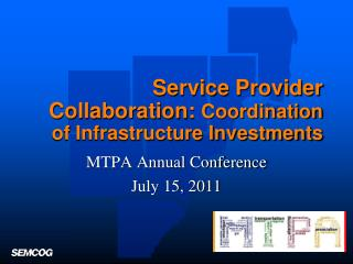 Service Provider Collaboration:  Coordination of Infrastructure Investments
