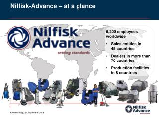 Nilfisk -Advance – at a glance