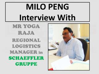MILO PENG Interview With