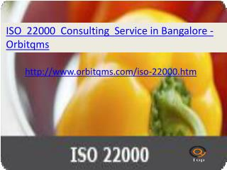 iso 22000  consulting service in bangalore