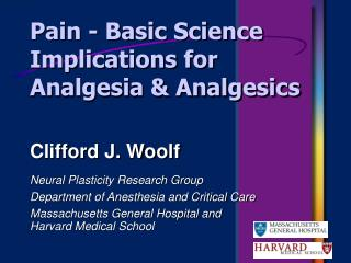 Pain - Basic Science Implications for Analgesia & Analgesics