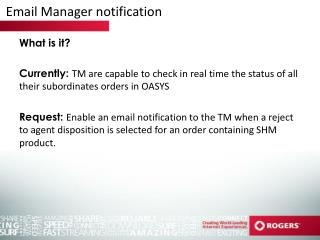 Email Manager notification